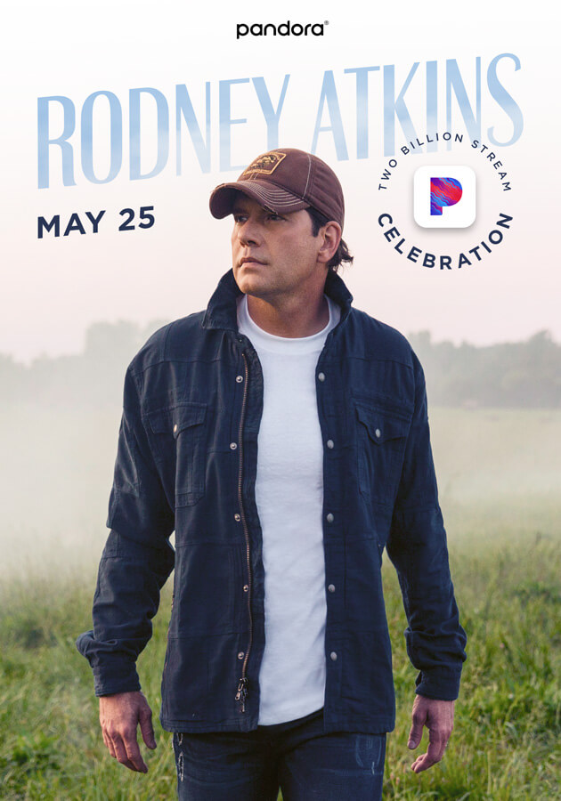 Rodney Atkins: 2 Billion Pandora Stream Celebration